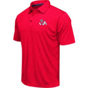 Colosseum Men's Fresno State Bulldogs Cardinal Heathered Performance Polo