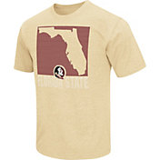 Colosseum Athletics Men's Florida State Seminoles Gold State of the Union T-Shirt