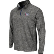 Colosseum Athletics Men's Gonzaga Bulldogs Grey Action Pass Quarter-Zip