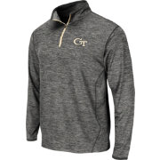 Colosseum Athletics Men's Georgia Tech Yellow Jackets Grey Action Pass Quarter-Zip