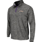 Colosseum Athletics Men's JMU Dukes Grey Action Pass Quarter-Zip