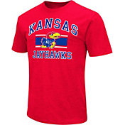 Colosseum Athletics Men's Kansas Jayhawks Red Dual-Blend T-Shirt