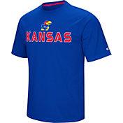 Colosseum Athletics Men's Kansas Jayhawks  Blue Pique Performance T-Shirt