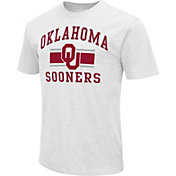 Colosseum Men's Oklahoma Sooners White Dual-Blend T-Shirt