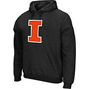 Colosseum Athletics Men's Illinois Fighting Illini Performance Black Fleece Hoodie