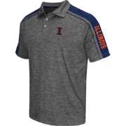 Chiliwear Men's Illinois Fighting Illini Grey Birdie Polo