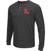 Colosseum Athletics Men's Ole Miss Rebels Charcoal Long Sleeve Henley T-Shirt