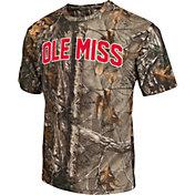 Colosseum Athletics Men's Ole Miss Rebels Camo Brow Tine T-Shirt