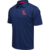 Colosseum Athletics Men's Ole Miss Rebels Blue Heathered Performance Polo