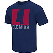 Colosseum Athletics Men's Ole Miss Rebels Blue State of the Union T-Shirt