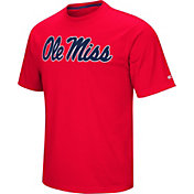 Colosseum Athletics Men's Ole Miss Rebels Red Pique Performance T-Shirt