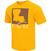Colosseum Athletics Men's LSU Tigers Gold State of the Union T-Shirt