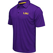 Colosseum Athletics Men's LSU Tigers Purple Heathered Performance Polo