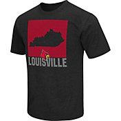 Colosseum Athletics Men's Louisville Cardinals Black State of the Union T-Shirt