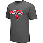 Colosseum Athletics Men's Louisville Cardinals Grey Classic T-Shirt
