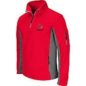 Colosseum Men's Louisville Cardinals Cardinal Red Quarter-Zip Plow Jacket