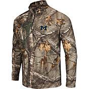 Colosseum Athletics Men's Michigan Wolverines Camo Decoy Quarter-Zip Wind Shirt