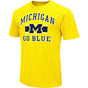 Colosseum Men's Michigan Wolverines Maize Dual-Blend T-Shirt