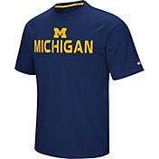 Colosseum Athletics Men's Michigan Wolverines Blue Pique Performance T-Shirt