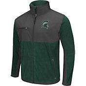 Colosseum Athletics Men's Michigan State Spartans Green/Grey Mesa Polar Fleece Jacket