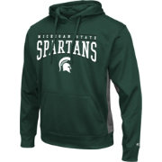 Colosseum Athletics Men's Michigan State Spartans Green Defend Pullover Fleece Hoodie