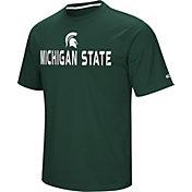 Colosseum Athletics Men's Michigan State Spartans Green Pique Performance T-Shirt