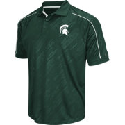 Chiliwear Men's Michigan State Spartans Green Sleet Performance Polo