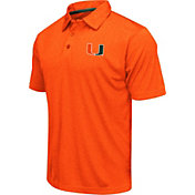 Colosseum Athletics Men's Miami Hurricanes Orange Heathered Performance Polo