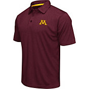 Colosseum Athletics Men's Minnesota Golden Gophers Maroon Heathered Performance Polo