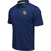 Colosseum Athletics Men's Marquette Golden Eagles Navy Heathered Performance Polo