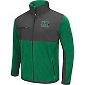 Colosseum Athletics Men's Marshall Thundering Herd Green/Grey Mesa Polar Fleece Jacket
