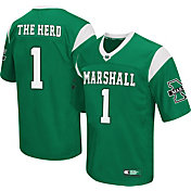 Colosseum Athletics Men's Marshall Thundering Herd Green #1 Hail Mary Jersey