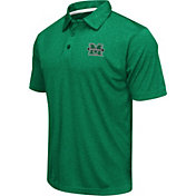 Colosseum Athletics Men's Marshall Thundering Herd Green Heathered Performance Polo