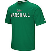 Colosseum Athletics Men's Marshall Thundering Herd Green Pique Performance T-Shirt