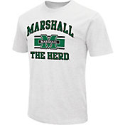 Colosseum Athletics Men's Marshall Thundering Herd White Dual Blend T-Shirt