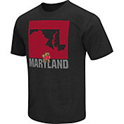 Colosseum Athletics Men's Maryland Terrapins Black State of the Union T-Shirt