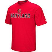 Colosseum Athletics Men's Maryland Terrapins Red Pique Performance T-Shirt