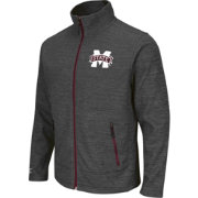 Colosseum Athletics Men's Mississippi State Bulldogs Grey Backfield Full-Zip Jacket