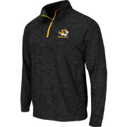 Colosseum Athletics Men's Missouri Tigers Action Pass Black Quarter-Zip