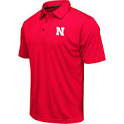 Colosseum Athletics Men's Nebraska Cornhuskers Red Heathered Performance Polo