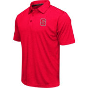 Colosseum Men's North Carolina State Wolfpack Red Heathered Performance Polo