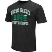Colosseum Athletics Men's North Dakota Fighting Hawks Black Dual Blend T-Shirt