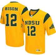 Colosseum Athletics Men's North Dakota State Bison Yellow #12 Hail Mary Jersey