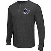 Colosseum Athletics Men's Notre Dame Fighting Irish Charcoal Long Sleeve Henley T-Shirt