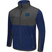 Colosseum Athletics Men's Notre Dame Fighting Irish Navy/Grey Mesa Polar Fleece Jacket