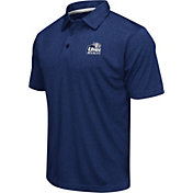 Colosseum Athletics Men's New Hampshire Wildcats Blue Heathered Performance Polo