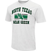 Colosseum Men's North Texas Mean Green White Dual-Blend T-Shirt