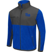 Colosseum Athletics Men's Pittsburgh Panthers Retro Blue/Grey Mesa Polar Fleece Jacket