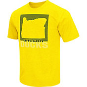 Colosseum Athletics Men's Oregon Ducks Yellow State of the Union T-Shirt