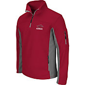 Colosseum Men's Arkansas Razorbacks Cardinal Quarter-Zip Plow Jacket